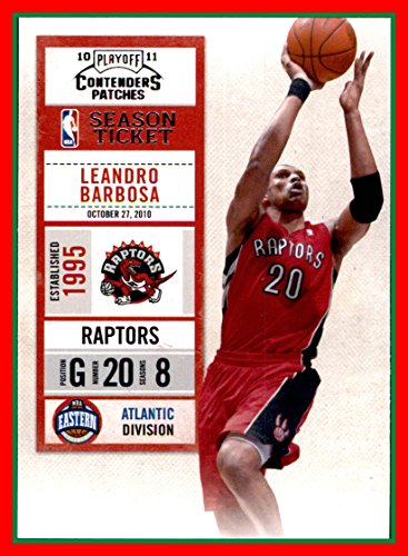 - 2010-11 Playoff Contenders Patches #67 Leandro Barbosa toronto raptors (87d)