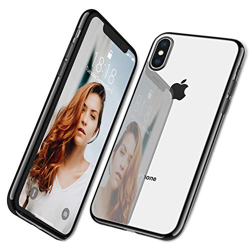 DTTO-Case-for-iPhone-Xs-Lightening-Series-Clear-Stylish-Flexible-Case-with-Metal-Luster-Edge-for-Apple-iPhone-Xs2018-Also-Compatible-with-iPhone-X2017-58-Inch