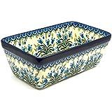Polish Pottery Baker - Loaf Dish - Blue Bells
