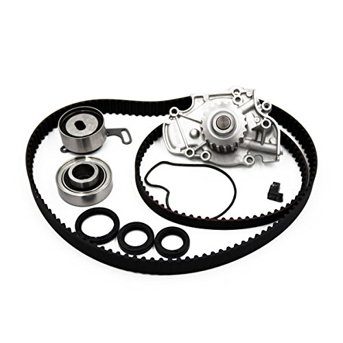 Timing Belt Kit Water Pump/w Gaskets Tensioner Fit 94-02 Honda Accord/Odyssey Acura CL And ISUZU OASIS 2.3L 2.2L L4 SOHC F22B1 F23A1 F23A4 F23A5 F23A7 VTEC Acura Water Pump Gasket