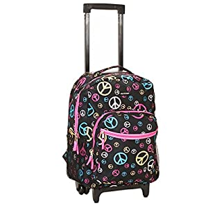 Adventure Rockland Deluxe Peace 17-inch Rolling Carry-On Travel Backpack