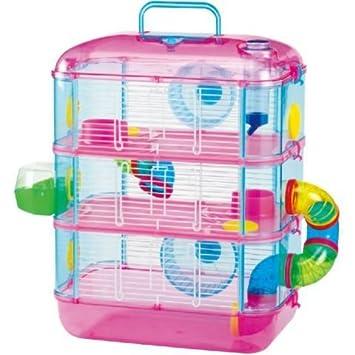 timeless design exquisite style best place Lazy Bones à 3 étages Cage pour hamster Rose et bleu: Amazon ...