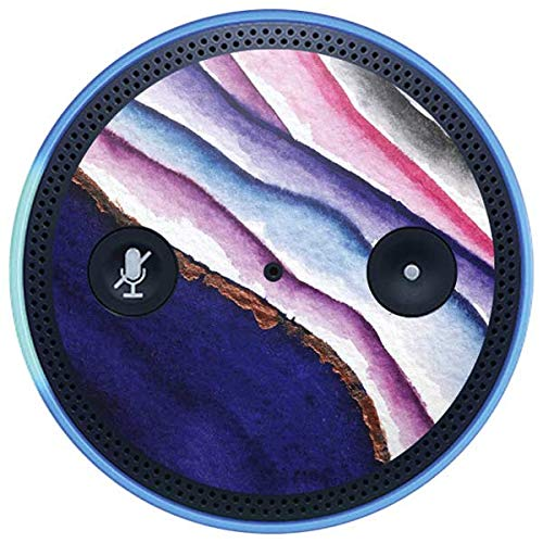 Skinit Geode Amazon Echo Plus Skin - Violet Watercolor Geode Design - Ultra Thin, Lightweight Vinyl Decal Protection