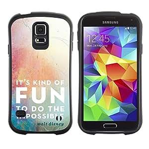 """Pulsar iFace Series Tpu silicona Carcasa Funda Case para Samsung Galaxy S5 , Cita de la diversión de la historieta de motivación imposible"""""""