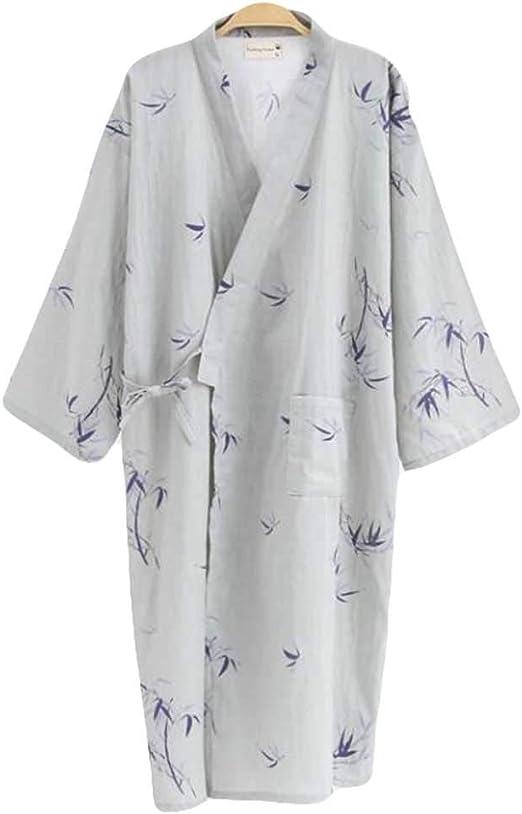 Bamboo - Kimono de Verano para Hombre Pijama Fino Bata Larga ...