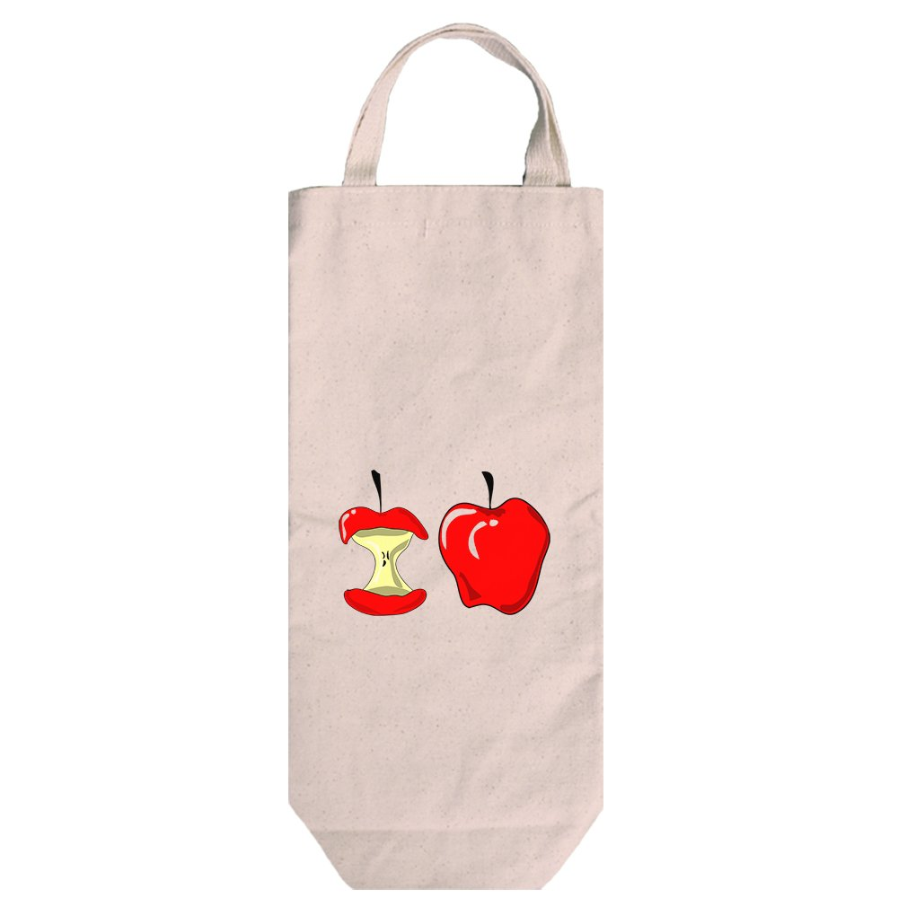Canvas Wine Bag Tote With Handles Apple And Apple Corer Image By Style In Print