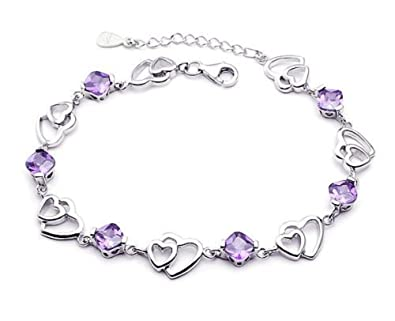 findout ladies silver amethyst /blue/pink/Multi-colored butterfly bracelet .for women girls.(f1138) JZUVAxhc8