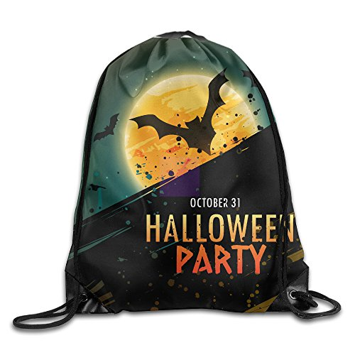 Unisex Drawstring Water Resistant Cinch Sack Bags Halloween Party Portable Sport Training Gym Bag For Hiking Swimming Yoga,Beach Travel Storage Use Christmas Gift