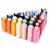 Sewing Thread 30 Colour Spools 250 Yards Each Polyester All Purpose for Hand and Machine Sewing