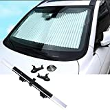ECFAC Car Windshield Sun Shade, Retractable Sun Shade, Easy to Install...