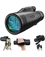 Monocular Telescope - 12x50 High Power Prism Monocular HD Scope Portable Waterproof Fogproof with Smartphone Holder & Tripod & Hand Strap for Bird Watching Hunting Camping Travelling Wildlife Secenery