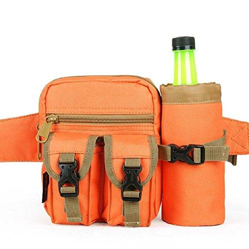 LJ&L Al aire libre alpinismo bolsos deportivos, al aire libre corriendo multifuncional impermeable de los hombres bolsillos, al aire libre bolsa de agua bolsos bolsa,D,one size C