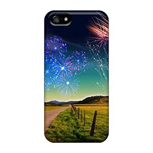 PC For SamSung Galaxy S5 Phone Case Cover Strong Protect Case - Fireworks Design