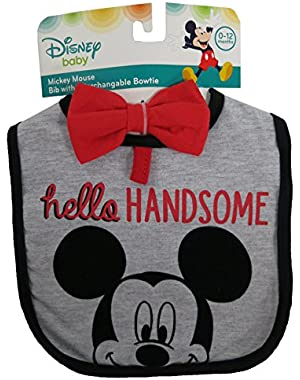 Disney Mickey Mouse Bid and Interchangeable Bow-tie set – 0 – 12 months [5014]