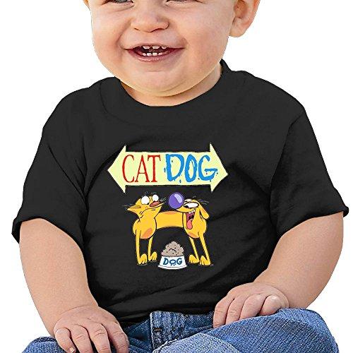 Quxueyuannan Catdog Washed Cotton Baby Boy Shirt Cute Summer T Shirt Funny