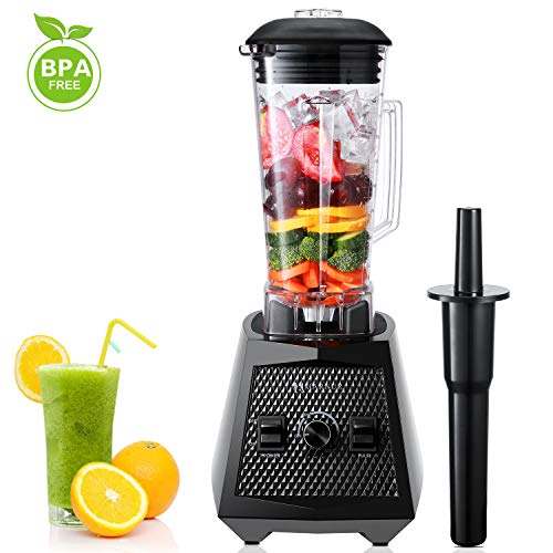 Blender Smoothie Maker 1500W 8 Sharp Blades 28000 RPM High Speed 70 Oz Commercial Blender Stainless Steel Ice Blender Mufti-Function with 2L Glass Jug BPA Free [Energy Class A+]