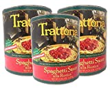 Trattoria, Spaghetti Sauce Alla Rustica with Extra Virgin Olive Oil and Fresh Basil, 102 oz (Pack of 3)