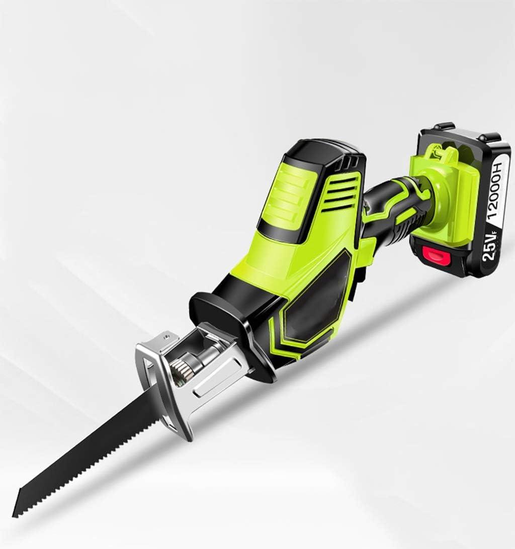 Sierra de vaivén de carga inalámbrica con sierra de calar eléctrica con 4 cuchillas, 3000r / min, for bricolaje, madera, corte de metal