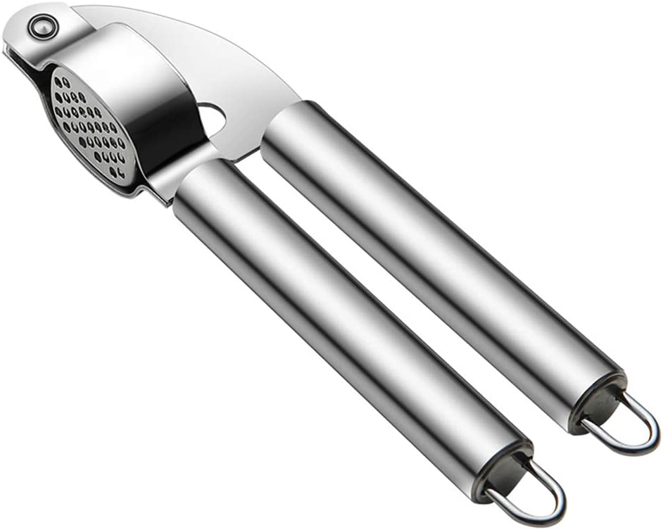 Stickit Graphix Garlic Press,Professional Easy Squeeze Garlic Mincer,Food Grade Stainless Steel,Rust Proof,Dishwasher Safe, Easy Clean (Size F)