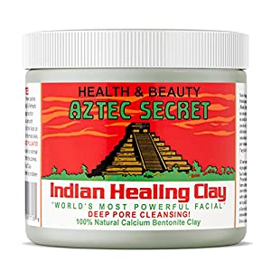 Aztec Secret – Indian Healing Clay – 1 lb. | Deep Pore Cleansing Facial & Body Mask | The Original 100% Natural Calcium Bentonite Clay – New! Version 2
