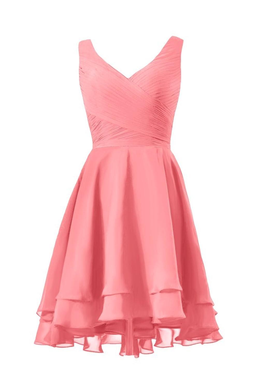DaisyFormals High Low Party Dress Deep V neckline Prom Dress (CST2226)