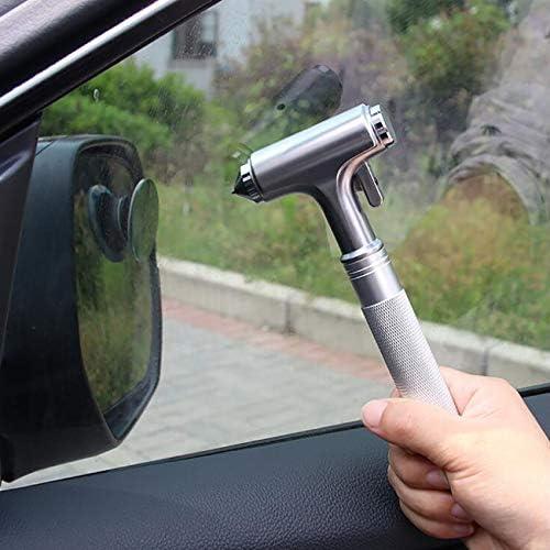 lizeyu Sicherheitshammer für Kraftfahrzeuge aus Kohlenstoffstahl mit Unterbrecher, Sicherheitsgurtschneider und rutschfestem Notausstiegswerkzeug
