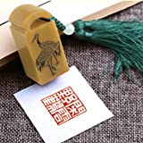YZ076 Hmay Chinese Mood Seal / Handmade Traditional Art Stamp Chop for Brush Calligraphy and Sumie Painting and Gongbi Fine Artworks / - Xian Yun Ye He (Crane)