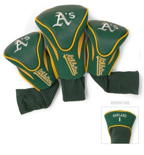 mlb-oakland-athletics-3-pack-contour-head-covers
