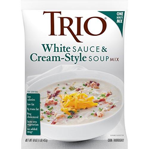 Trio White Sauce & Creamy Soup Mix, Comfort Food, Alfredo, Mushroom, and Bechamel Sauce, 16 oz