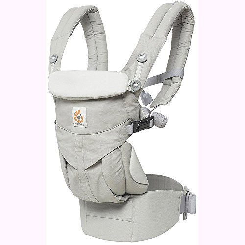 Ergo Baby Omni 360 All-in-One Ergonomic Baby Carrier with Teething Pad and Bib - Pearl Grey/Natural by Ergobaby (Image #1)