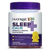 Natrol Kids Sleep+ Calm, Melatonin and L-Theanine, Sleep Aid Gummies with Botancial Blends, 100% Drug-Free, 60 Count