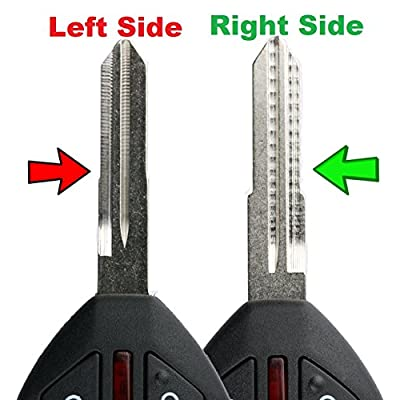KeylessOption Keyless Entry Remote Uncut Blank Car Key Blade Fob Case Shell Button Pad Outer Cover Repair for 2007-2012 Mitsubishi Eclipse Lancer Galant: Automotive