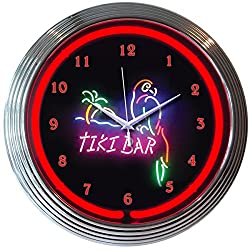 Neonetics 8TIKIX Tiki Bar Neon Clock