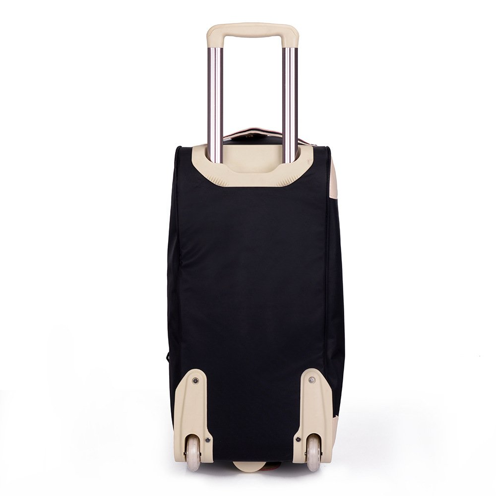 Yangjiaxuan Large-Capacity Gift Trolley Bag Nylon Portable Travel Trolley Bag Outdoor Travel Luggage Bag (Color : Black)