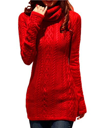 v28 Women Polo Neck Knit Stretchable Elasticity Long for sale  Delivered anywhere in USA