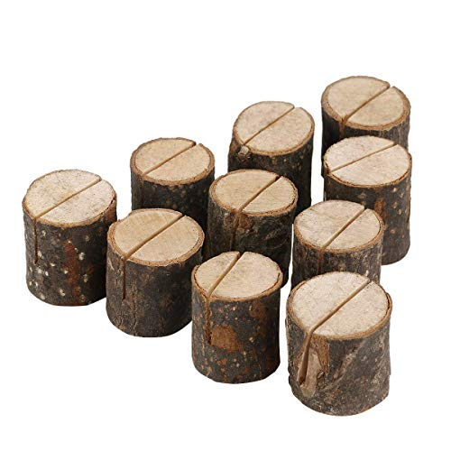 Pixnor Wooden Wedding Name Place Card Holders Home Decor Pack of 10