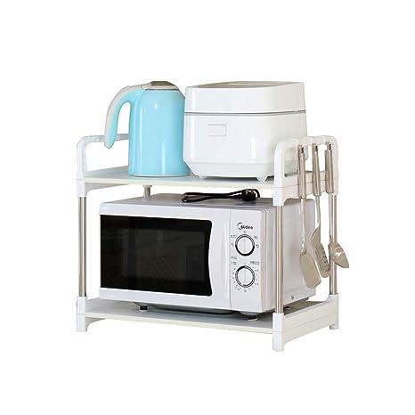 Estante para horno microondas, tubo de acero inoxidable para ...