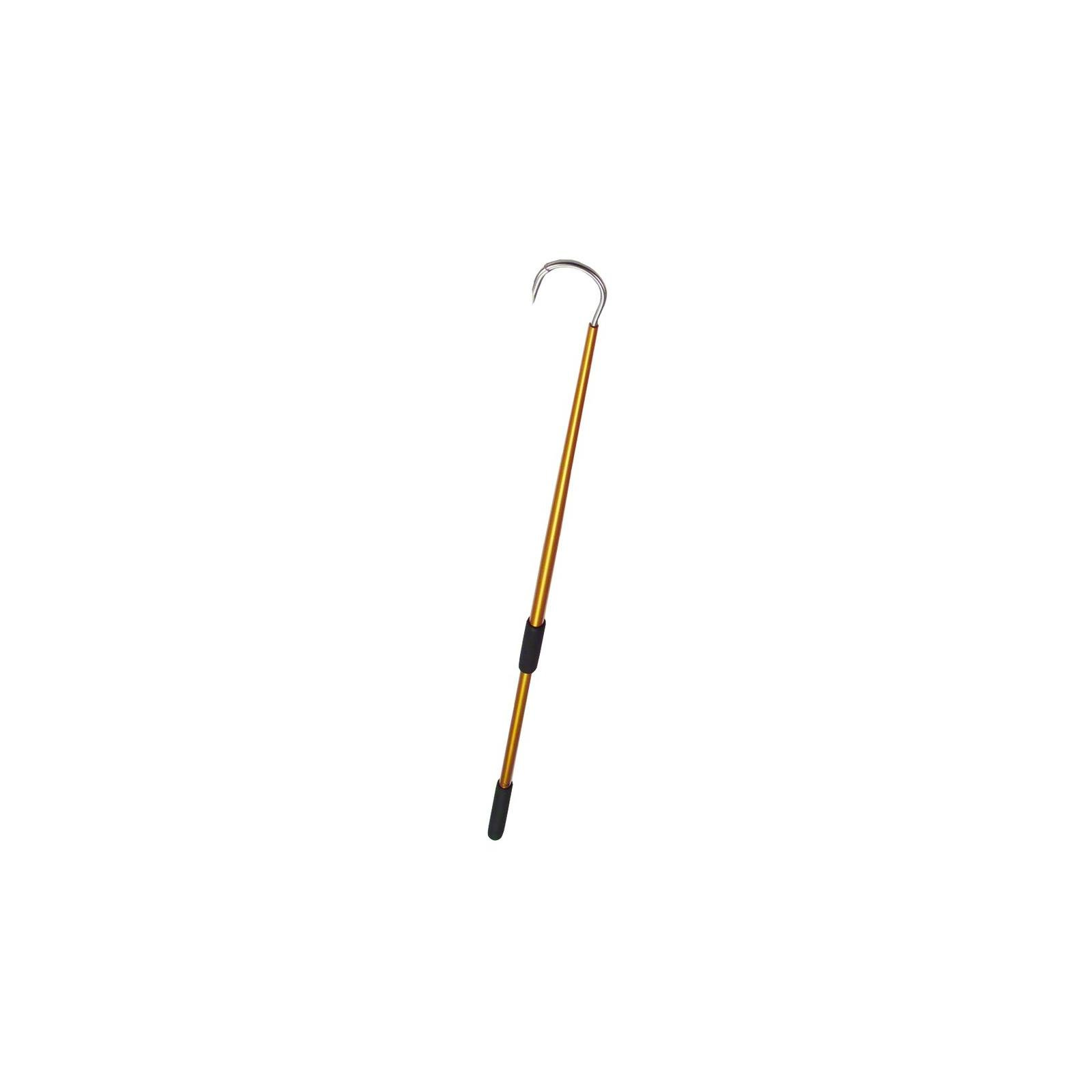 Aftco GFA586GLD Aluminum Fishing Gaff Hook, 5-Inch Hook Throat, 6-Foot Length, Gold Finish by AFTCO