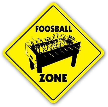 AdriK Señal de futbolín para Sala de Juegos con Texto en inglés Foosball Zone, señal Decorativa de Seguridad de Metal y Placa de Aluminio: Amazon.es: Hogar