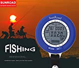 SUNROAD Altimeter Thermometer Fishing Watch IPX4 Waterproof Digital Sports Barometer LCD Mini Fish Finder With Carabiner SR204