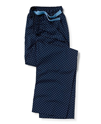(Savile Row Men's Navy Blue Foulard Print Lounge Pants M)