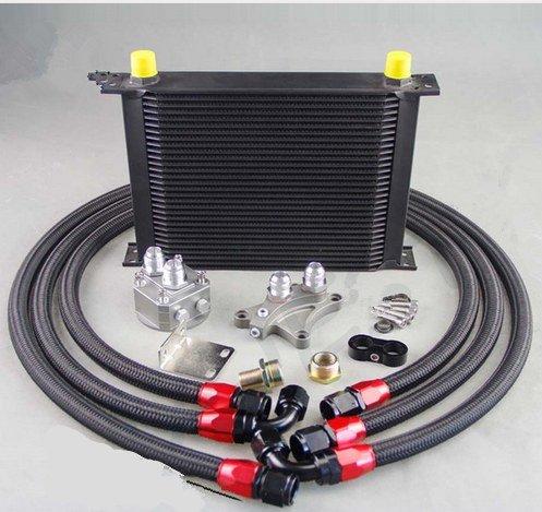 GOWE OIL COOLER KIT FOR 30 ROW OIL COOLER KIT FOR NISSAN Silvia S13 S14 S15 180SX 200SX 240SX SR20DET BLACK