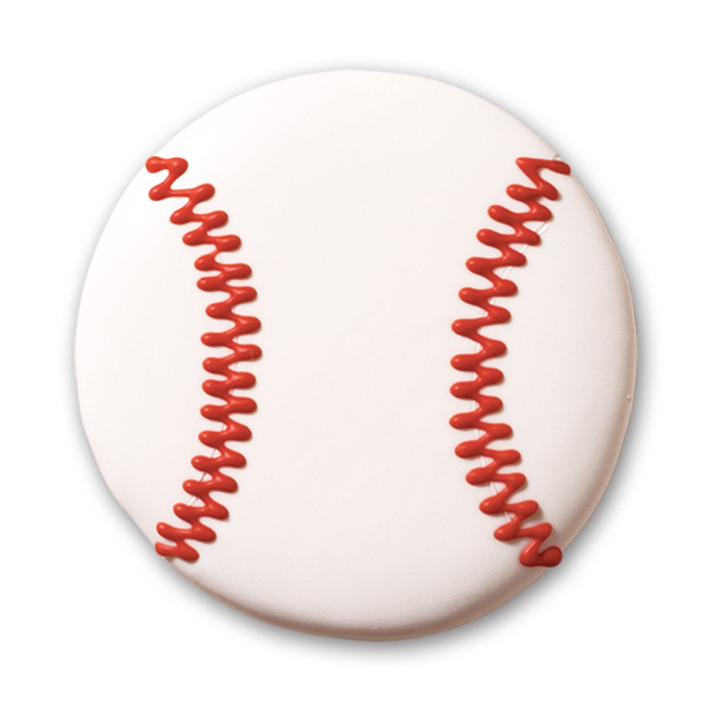 Decorated Sugar Cookies - Baseball Design - by Merlino Baking Co. (12 Pack)