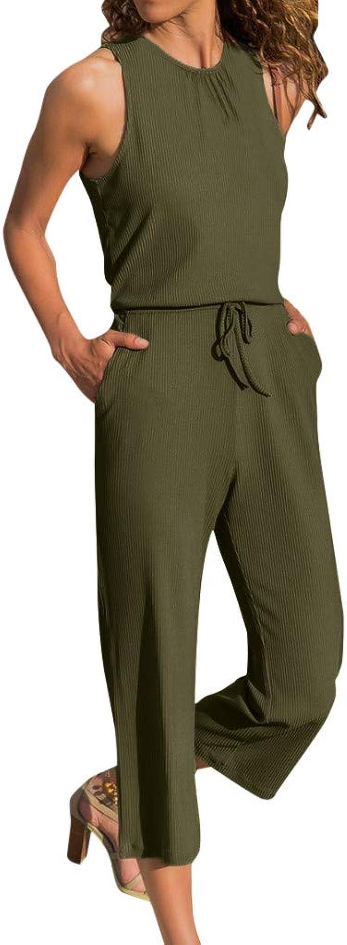 VICGREY Jumpsuit Mujer Elegante – Pantalón Chándal Mujer Jumpsuit ...