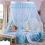 Elegant Double Sucker,Princess Hanging Mosquito Nets/Fashion Three Open The Door£¬thickened To Wear Lace Mosquito Nets/Simple Daughter Bed To Increase Mosquito Nets-A F