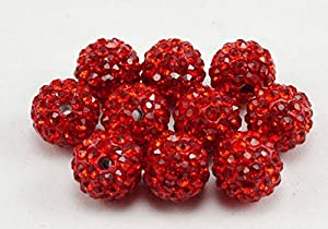 iCherry(TM) 10mm 100pcs/Lot Mixed Color Clay Pave Disco Ball for Rhinestone Crystal Shamballa Beads Charms Jewelry Makings
