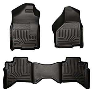 Husky Liners Front & 2nd Seat Floor Liners Fits 02-08 Ram 1500 Quad Cab