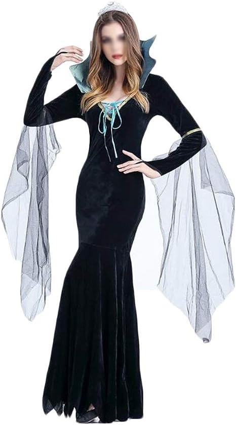 Cosplay novedoso Traje de la bruja diablo vestido de bruja disfraz ...