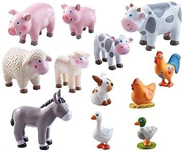 Haba Little Friends Spielfigur Hase HoppelTierfigurBauernhof Spielzeug Bauernhof