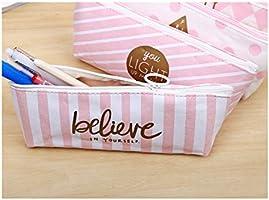 caja de cartón de color rosa lápiz de tela caja de lápices ...